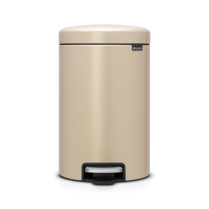 Мусорный бак newicon (12 л), Минерально-золотой, арт. 115806 - фото 1