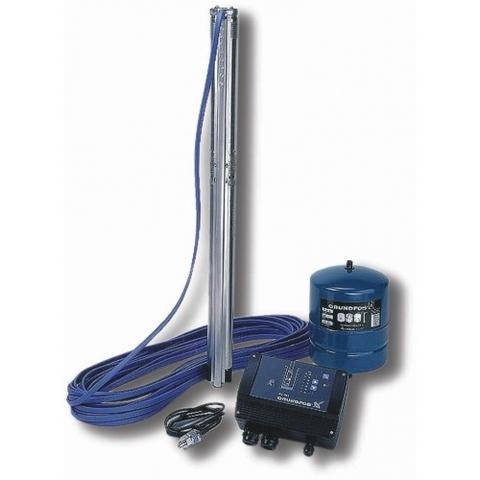 Комплект для поддержания постоянного давления с насосом Grundfos SQE 2-70