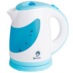 Чайник электрический 1,8л ВАСИЛИСА Т27-2200 белый с голубым