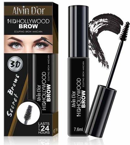 Alvin D`or МВ-1Тушь для бровей HD Hollywood Brow (тон 01C medium brown)