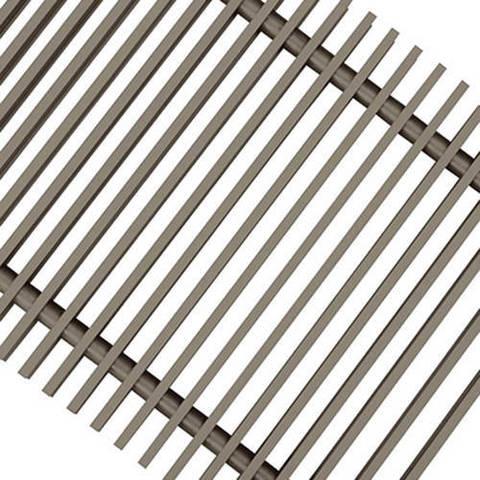 Решетка поперечная алюминиевая Techno шириной 200 мм, длина 800 мм (цвет титан)