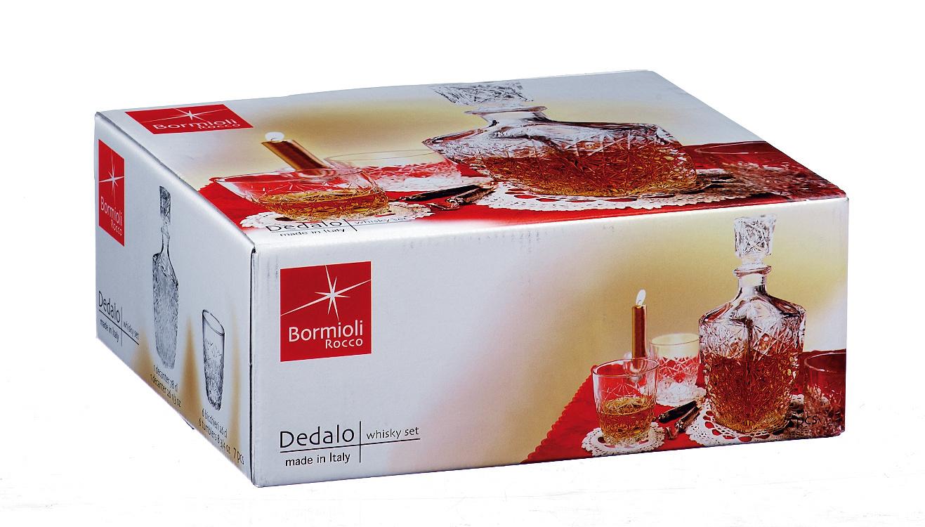 Набор для виски «Dedalo», декантер 850 мл, 6 стаканов 260 мл набор стаканов для чая loraine 6 предметов 180 мл