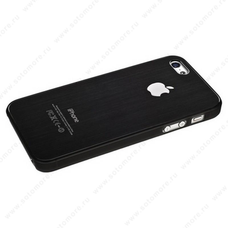 Накладка SGP металлическая для iPhone SE/ 5s/ 5C/ 5 серая с серой окантовкой
