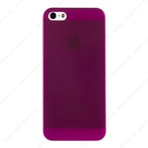 Накладка XINBO супертонкая для iPhone SE/ 5s/ 5C/ 5 бордовая