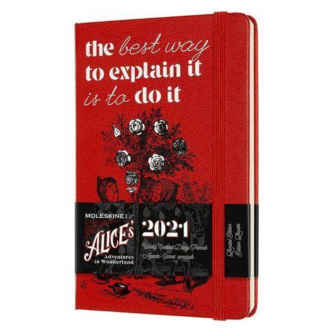 Еженедельник Moleskine LE Alice in Wonderland WKNT PC Pocket 90x140мм обложка текстиль 144стр. красный