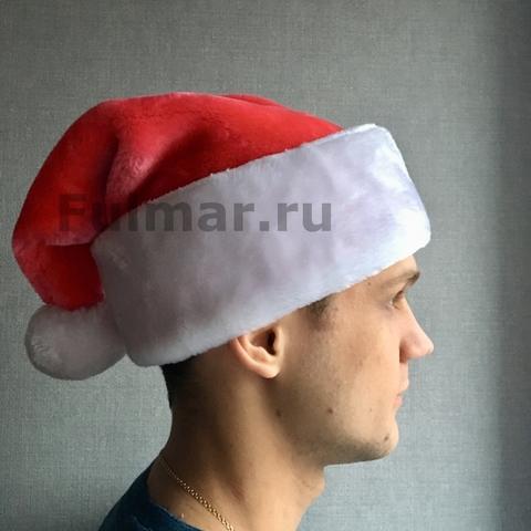 Новогодний колпак-шапка (Цвет: Светло-Красный)
