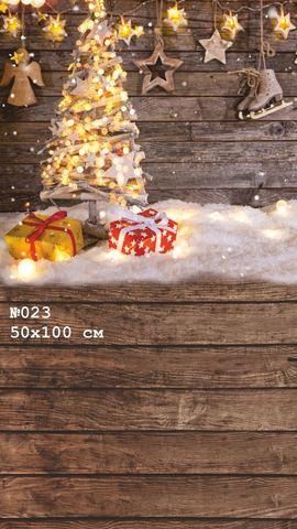 Фотофон виниловый стена-пол «Новогодний» №023