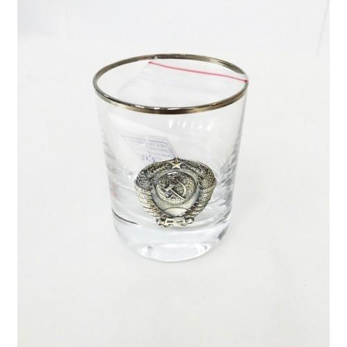 Серебряная стопка для водки «СССР», 70 мл стопка для водки из хрусталя classic 55 мл