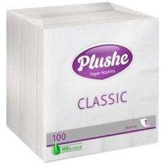 "Салфетки бумажные ""Plushe Classic"" 100шт"