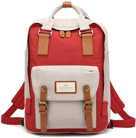 Рюкзак Doughnut Macaroon Светло-Серый + Красный