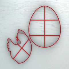 Курочка в яйце