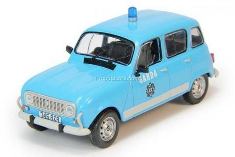 Renault 4L Garda Ireland Police 1:43 DeAgostini World's Police Car #76