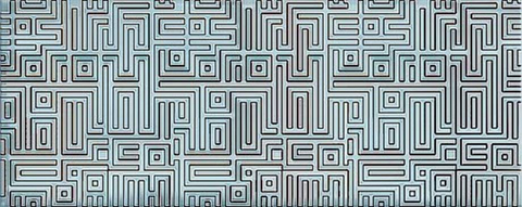 Декор AZORI Nuvola Aqua Labirint 505x201