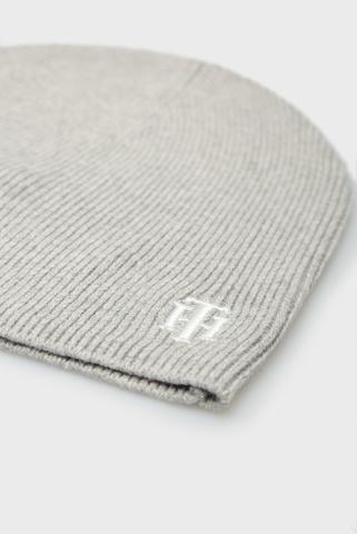 Женская серая шапка TH KNIT Tommy Hilfiger
