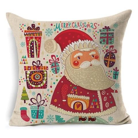 Наволочка декоративная новогодняя - Санта