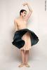 Двусторонняя репетиционная юбка изумрудный-молочный