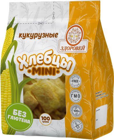Здоровей, Хлебцы mini кукурузные, 100гр