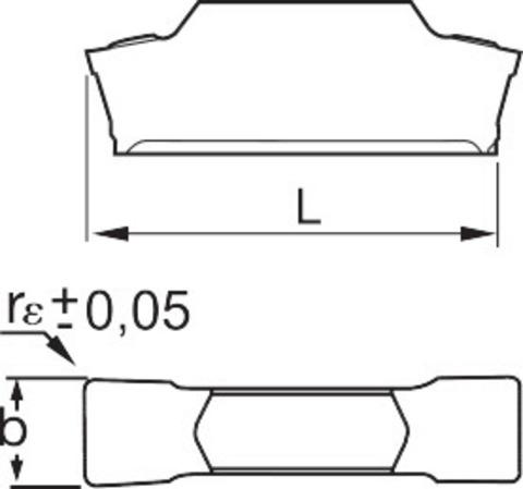 Прорезная пластина Получистовая обработка HB7020