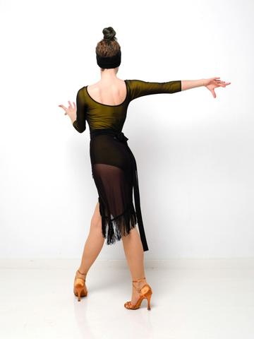 Боди для танцев c сеткой