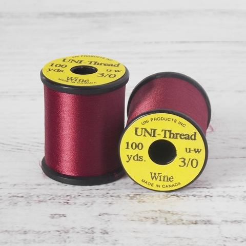 UNI Монтажная нить 3/0 100y UW (невощеная)