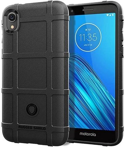 Чехол Motorola Moto E6 цвет Black (черный), серия Armor, Caseport
