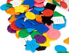 Набор больших цветных пуговиц, Edx education
