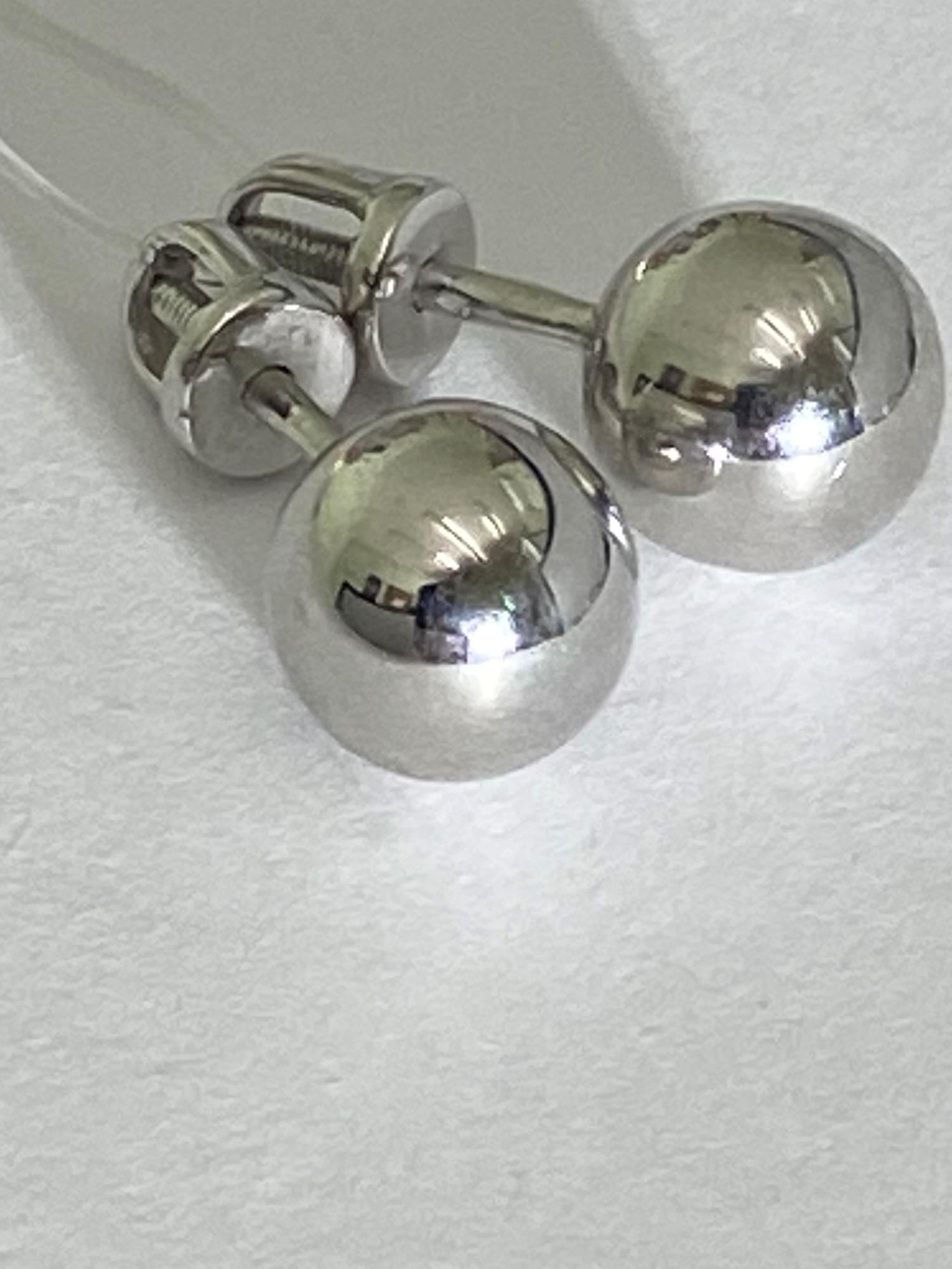 Шарики 0,8 (пусеты из серебра)