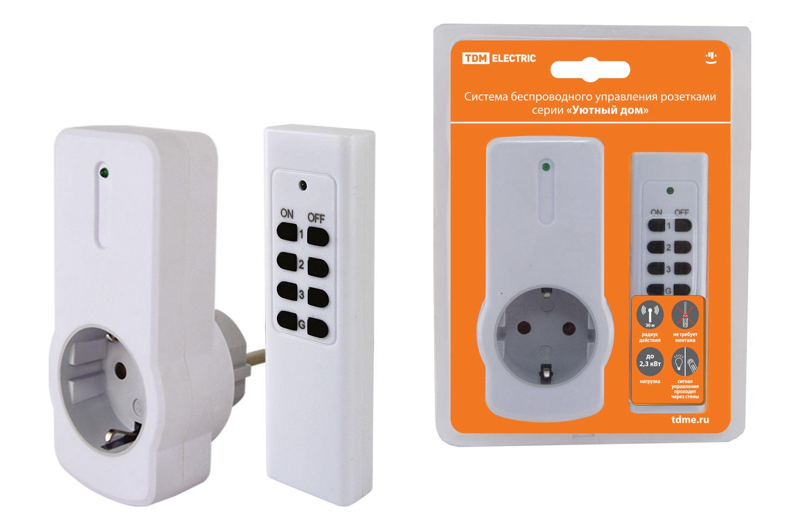 Комплект для беспроводного управления розетками ПУ3-Р1.1 (1 приемник) Уютный дом