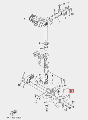 Корпус амортизатора для лодочного мотора F20 Sea-PRO (20-12)
