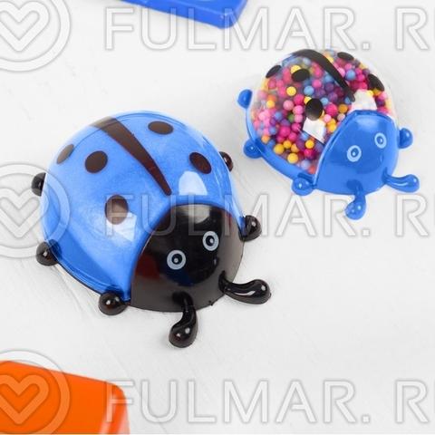 Набор для творчества своими руками слайм божья коровка с шариками, цвет синий