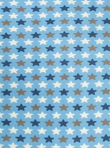 Чудо-Чадо. Плед Флисенок 120х85 см, голубой/звезды