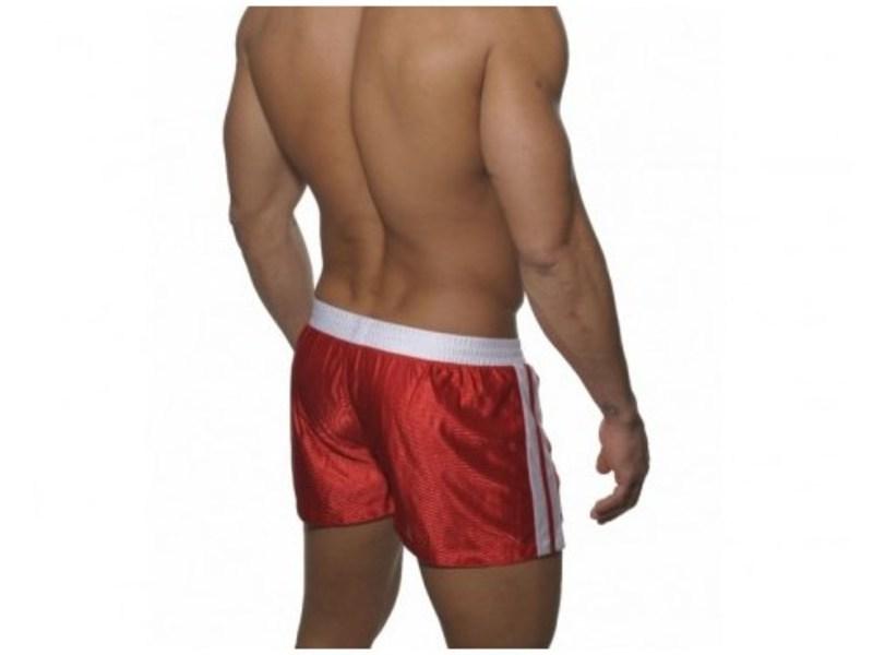 Мужские спортивные шорты красные с белым поясом ES Collection SHORTS RED- WHITE
