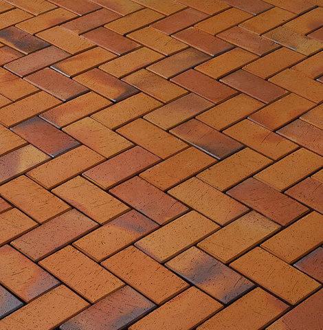 Vandersanden - Radeberg, оранжевый, пестро-синий обожженный, 200x100x45 - Клинкерная тротуарная брусчатка
