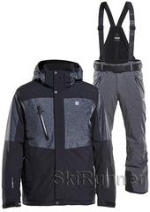 Горнолыжный костюм 8848 Altitude Westmount Venture 18 Black-Grey Melange мужской