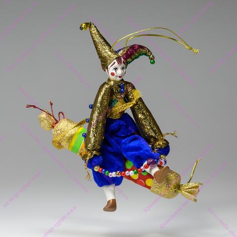 Клоун на хлопушке - подвесная игрушка