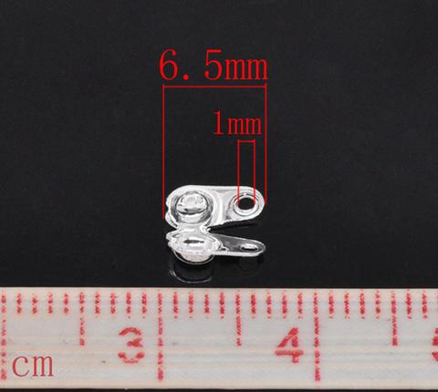 Концевик для маскировки узелка 6х4,5 мм, (цвет - серебро), 20 штук (B13899B)