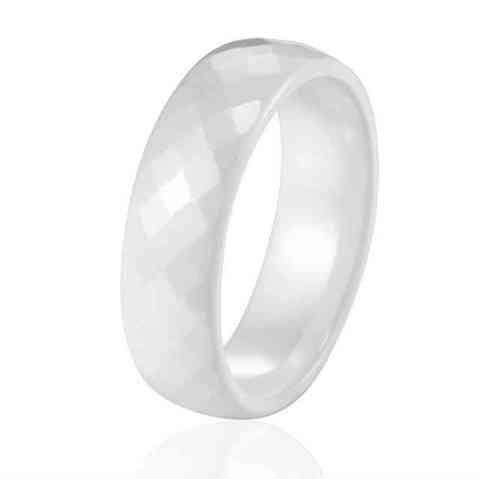 Кольцо Ceramic White