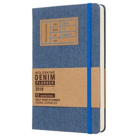 Ежедневник Moleskine Limited Edition DENIM Large 130х210мм 400стр. синий