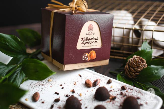 Конфеты Кедровый трюфель из тёмного шоколада