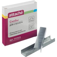 Скобы для степлера №23/8 Attache оцинкованные (1000 штук в упаковке)