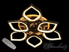 Черный Хром LED-люстра с диммером, пультом и подсветкой 115W
