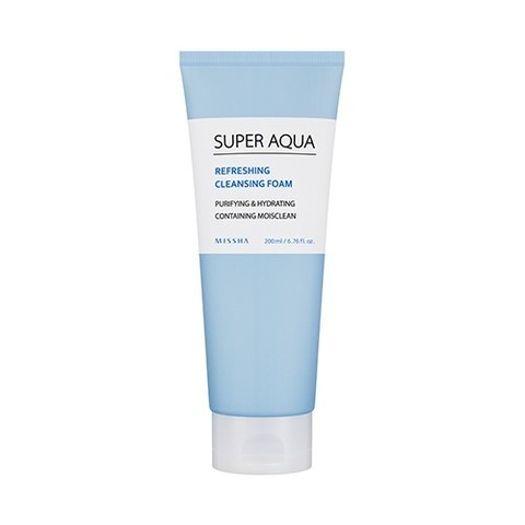 Увлажняющая пенка Missha Super Aqua Refreshing Cleansing Foam