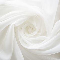 Штора готовая однотонная вуаль из ткани капрон   цвет: молочный