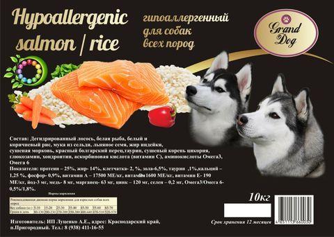 Grand Dog Hypoallergenic - рыба и рис