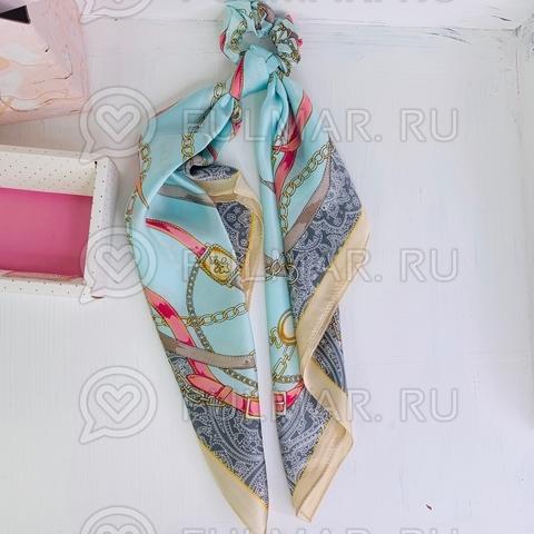 Платок с резинкой модный аксессуар для волос (цвет: голубой, розовый)