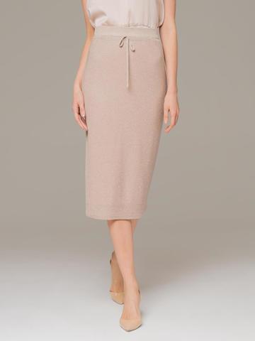 Женская юбка бежевого цвета - фото 3