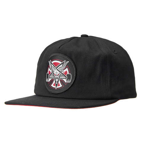 Кепка INDEPENDENT x THRASHER Pentagram Cross Snapback (Black)