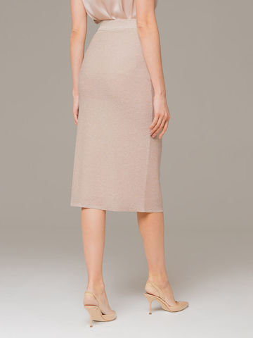 Женская юбка бежевого цвета - фото 2