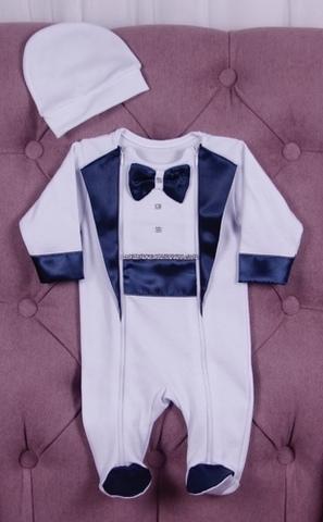 Нарядный костюм для малыша Смокинг синий