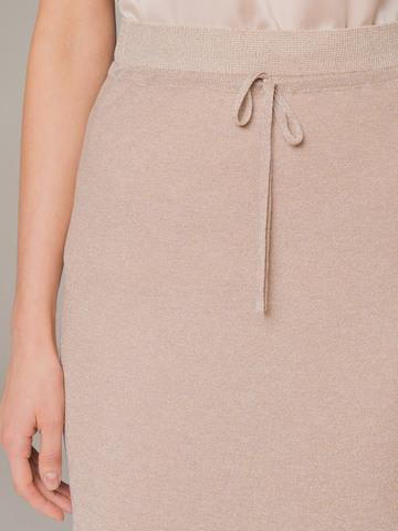Женская юбка бежевого цвета - фото 4